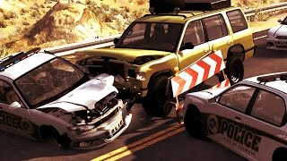 getlinkyoutube.com-BIG ULTIMATE Beamng Drive, Rollovers, Police chase, Drift, Crashes compilation