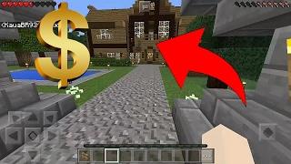 NÃO ACREDITO NISSO !!! INVADI O MUNDO DO INSCRITO E ELE ERA MUITO RICO ! (Minecraft Pocket Edition)