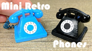 getlinkyoutube.com-DIY Miniature Old Fashioned Retro Phone