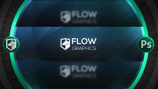 getlinkyoutube.com-Clean 2D Banner Tutorial | Photoshop CC | Flow Graphics