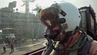 getlinkyoutube.com-F/A-18Fスーパーホーネット・空母離着艦コックピット映像 - F/A-18F Super Hornet Take-off & Landing Cockpit View