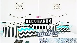 getlinkyoutube.com-DIY DECOR TUMBLR| Bandeirolas & Almofadas P&B ♥