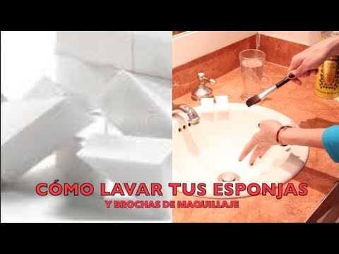 Cómo Lavar Esponjas, Brochas con Vinagre y Aceite de Oliva / How to Clean Makeup Brushes