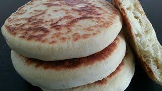 getlinkyoutube.com-Traditional Batbout Bread Moroccan Cuisine المطبخ المغربي خبز البطبوط المغربي