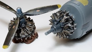 getlinkyoutube.com-How to paint radial engine. 1/48 R-2800-31 Eduard - F6F hellcat - Great Guide