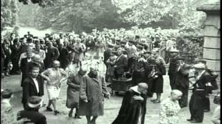 getlinkyoutube.com-French female Nazi collaborators with shaved heads marched on the streets in subu...HD Stock Footage