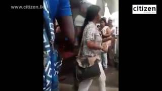 Women Fight In Maharagama citizen.lk  citizen.lk