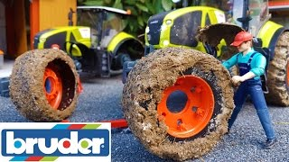 BRUDER toys RC tractor MUD WHEELS change!