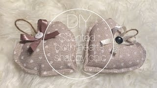 getlinkyoutube.com-DIY scented cloth hearts shabby chic // cuori di stoffa profumati - Denilab