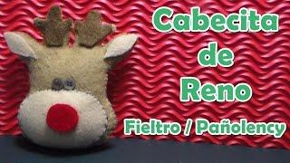 getlinkyoutube.com-Como hacer: Cabecita de Reno ⛄ (Fieltro / Pañolency) + Saludo