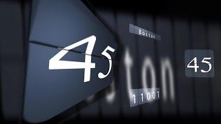 getlinkyoutube.com-60 sec  Countdown TIMER ( v 405 ) Flip Clock  with sound effects HD 4k