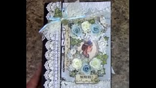 getlinkyoutube.com-TUTORIAL   PART 1 MINI ALBUM 8.5 X 6.5 BEAUTY IN BLUES DESIGNS BY SHELLIE