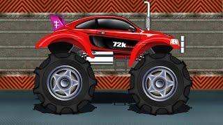 getlinkyoutube.com-Monster Truck | Sports Car Monster Truck | Kids Car Race