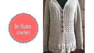 getlinkyoutube.com-Crochet arrow cardigan- by Oana