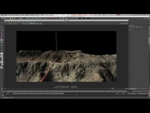 Maya 2013 Create Terrain With A Simple Displacement Map Tutorial by Stuart Christensen
