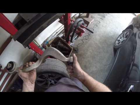 BMW ... M57N2 Замена сайлентблоков на передних рычагах передней подвески!