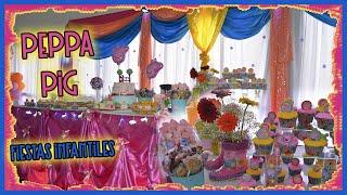 getlinkyoutube.com-Pequeña decoración cumpleaños temática Peppa pig