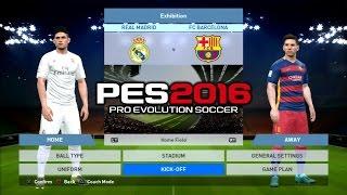 getlinkyoutube.com-PES 2016 Real Madrid Vs Barcelona 1-1 PS3 HD