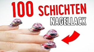 getlinkyoutube.com-100 SCHICHTEN NAGELLACK - ES FUNKTIONIERT!   100 coats of nail polish   XLAETA