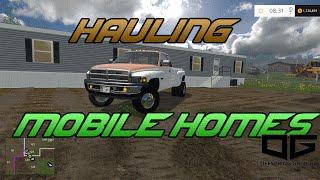 getlinkyoutube.com-Farming Simulator 2015- Hauling and Placing Mobile Homes!