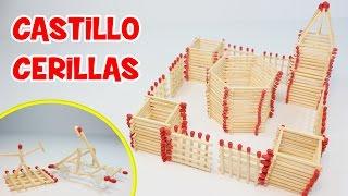 getlinkyoutube.com-Cómo Hacer un Castillo de Cerillas   Manualidades Fáciles