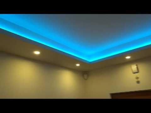 Taśma led smd RGB podświetlenie sufitu w holu