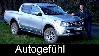 getlinkyoutube.com-Mitsubishi L200 FULL REVIEW test driven all-new 2016 Triton Series 5 neuer Pickup onroad offroad