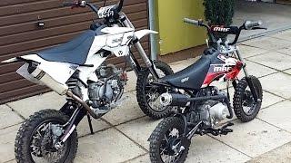 getlinkyoutube.com-Small Pit Bikes - 150cc + 80cc - Małe motorki miniaturowe crossy mini motory
