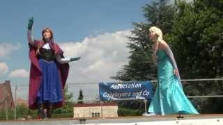 getlinkyoutube.com-La Reine des Neiges : Anna & Elsa Frozen Cosplay