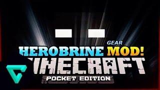 getlinkyoutube.com-รีวิว มอด ฮีโร่บาย Herobrine Mod | Minecraft PE 0.13.1