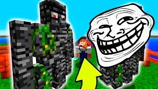 getlinkyoutube.com-Minecraft: TROLLAGEM GOLEM INDESTRUTIVEL | Afreim [ Troll Craft ]