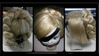 getlinkyoutube.com-DIY:  Парик для куклы.