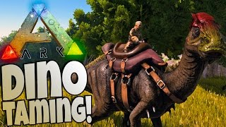 getlinkyoutube.com-Ark Survival Evolved Gameplay - Taming a Dinosaur  (Parasaur) - Ark Gameplay Highlights