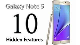 10 Hidden Features of the Galaxy Note 5 You Don't Know About