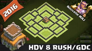 getlinkyoutube.com-Clash Of Clans, Village HDV 8 Rush/GDC ! Nouvelle Maj ! New Hero ! 2016 SpeedBuilding