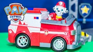 getlinkyoutube.com-PAW PATROL Nickelodeon Paw Patrol Rescue Marshall Vehicle Toys Video Unboxing