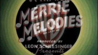 Merrie Melodies intro 1936 - 1942 plus red - blue rings