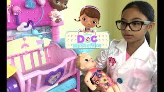 Disney Doc McStuffins Baby All In One Nursery Unboxing | Toys Academy width=
