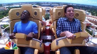 getlinkyoutube.com-Jimmy and Kevin Hart Ride a Roller Coaster