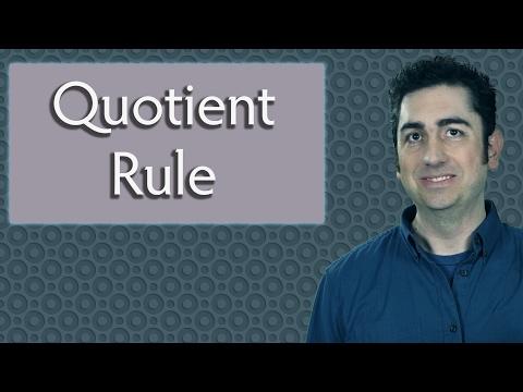 The Quotient Rule  (Calculus)