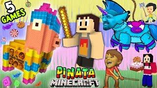 getlinkyoutube.com-5 PINATA GAMES w/ Baby Shawn! Minecraft Mini-Game w/ Warriors & Hunters (FGTEEV CINCO DE MAYO FUN!)