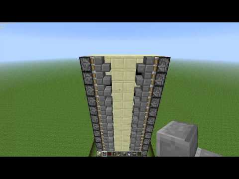 Minecraft 1.2.5 Zipper Elevator Tutorial - Very Easy and Compact!