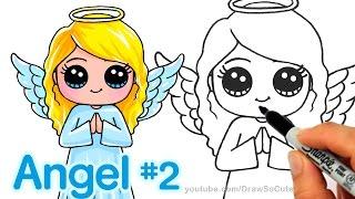 getlinkyoutube.com-How to Draw an Angel step by step Cute and Easy