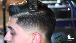 getlinkyoutube.com-Hard Part Comb Over Fade
