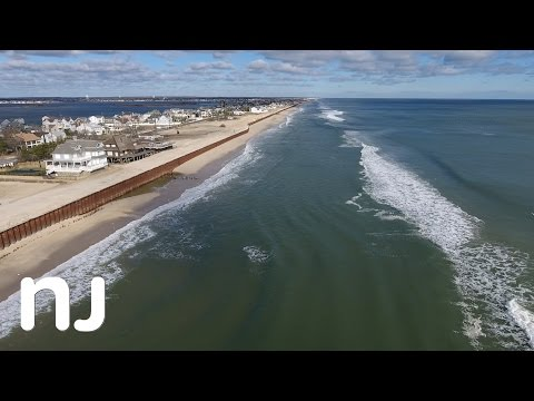 Drone captures nor'easter beach erosion at the Jersey Shore