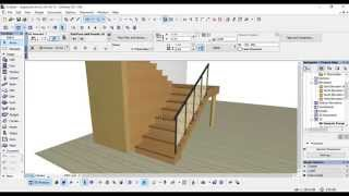 getlinkyoutube.com-Archicad - Como hacer mi propia escalera - Con barandal y forjados