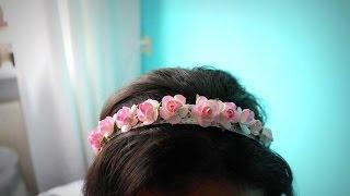 getlinkyoutube.com-اصنعي ب نفسك ربطة شعرسهلة من الورد: طوق الورد
