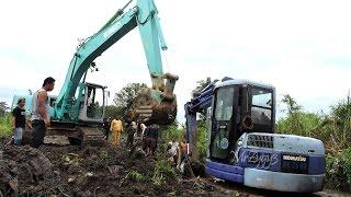 getlinkyoutube.com-Mini Excavator Heavy Recovery Kobelco SK200