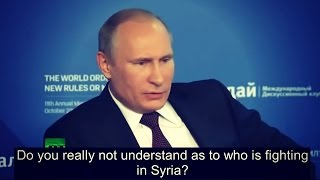 Putin Tells Everyone Exactly Who Created ISIS