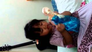 Mizo Vanlal Ruatdiki Thomte a.k.a. Boihteii - a 4 year old daughter of mine with her toy Elsa.